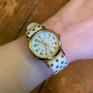 Timex Watch with Polka Dot band